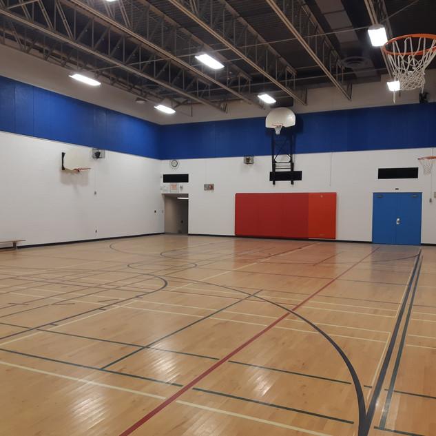 Gymnasium repainted