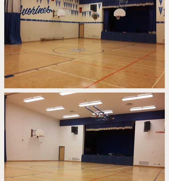 Before and after gymnasium