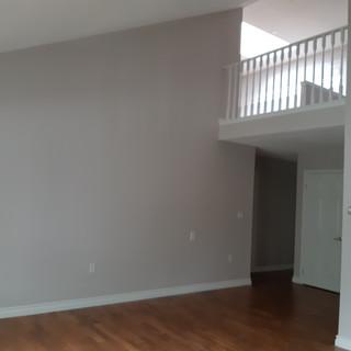 Freshly painted hallway foyer