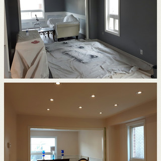 Before and after painting