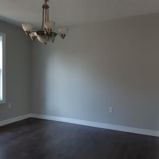 Freshly painted dining room