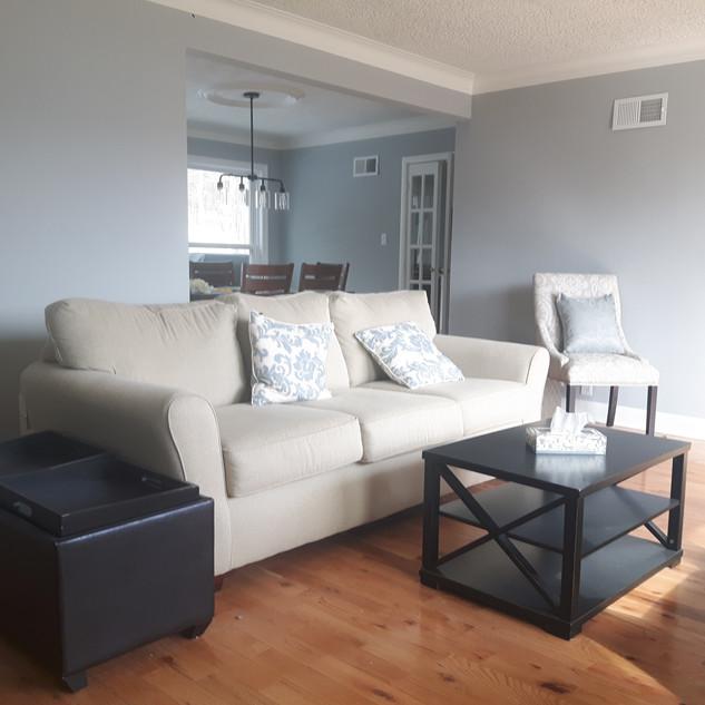 Freshly painted living room