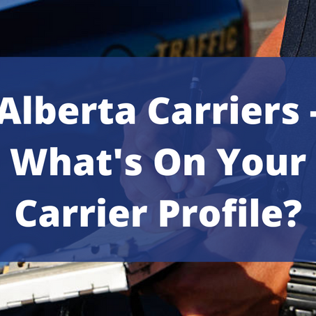 Alberta Carriers - What's on your Carrier Profile?