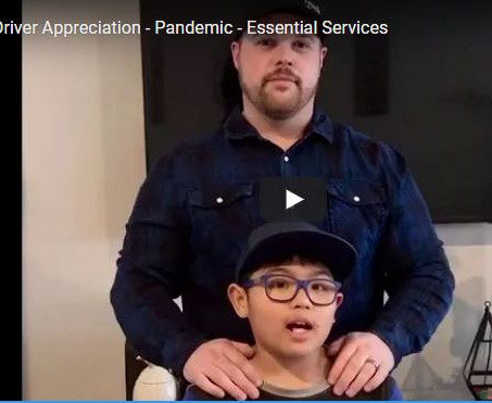 Driver Appreciation - Pandemic - Essential Services