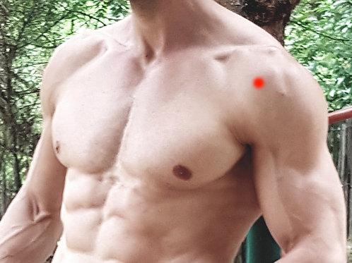Douleurs à l'avant de l'épaule - Zone principale à masser