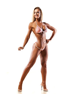 Female on Stage Posing