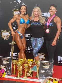 Monique and Shikeera ICN Brisbane Titles 2020
