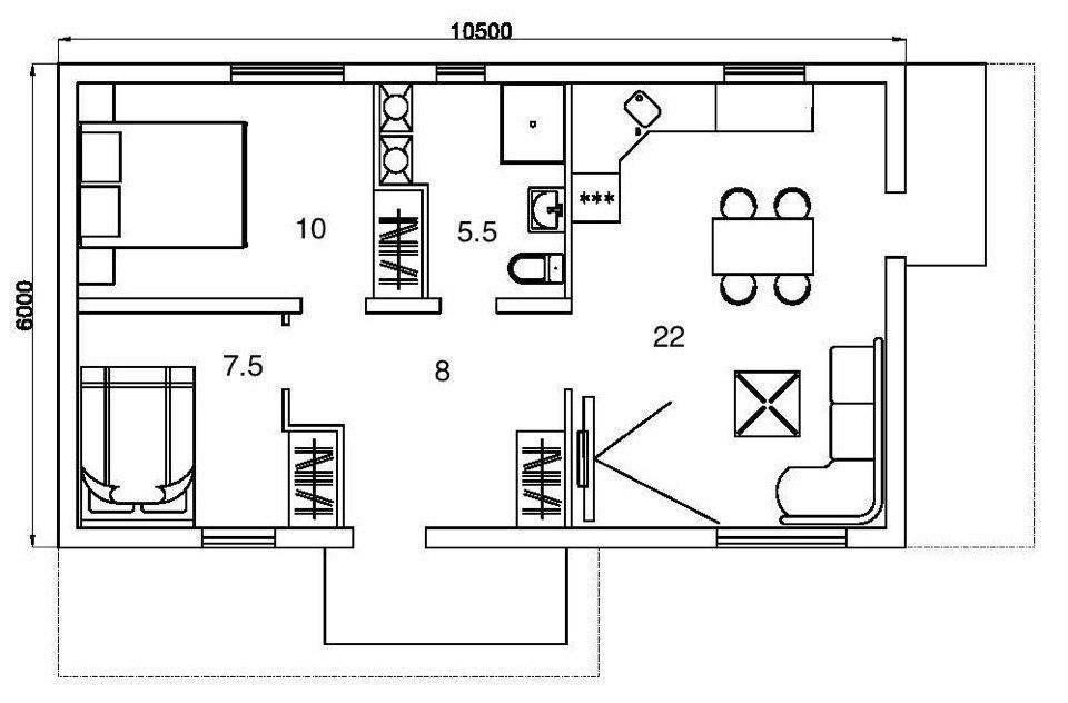 Каркасный дом - акция №1