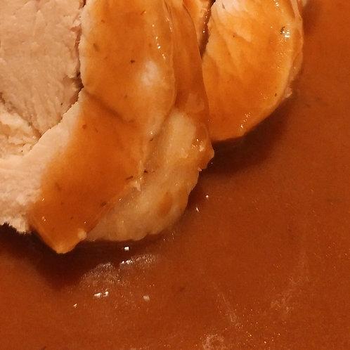 Sauce brune au vin rouge / Red wine gravy