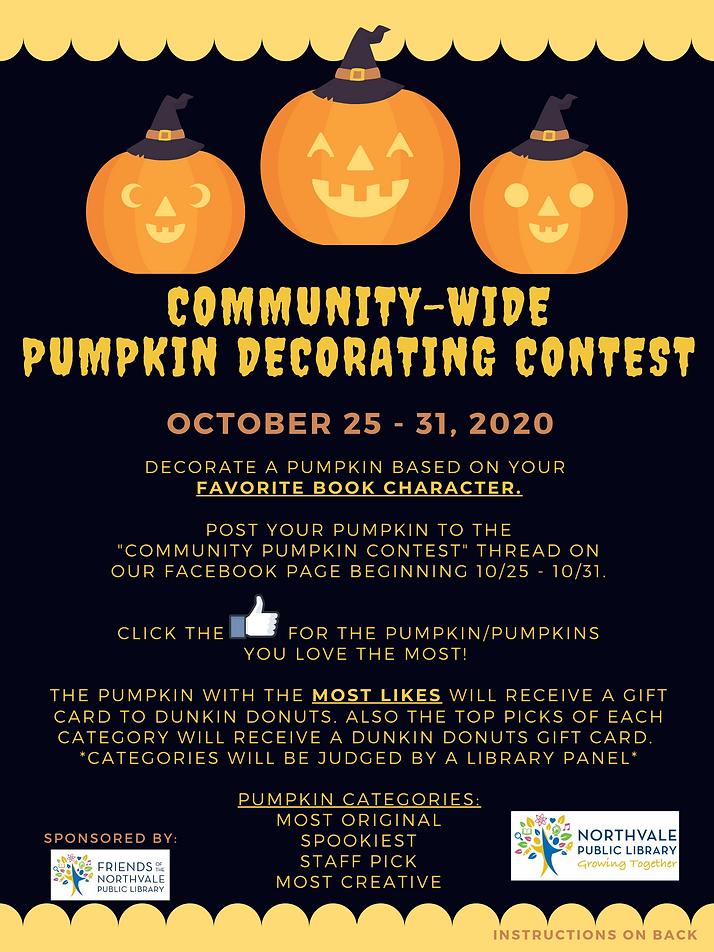Community Wide Pumpkin Decorating Contes