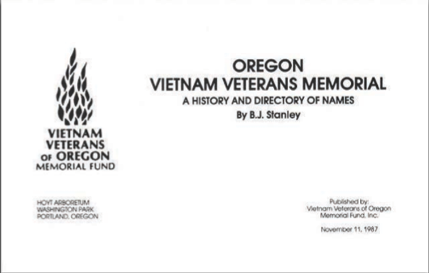 Cover of VVOMF History Booklet.png