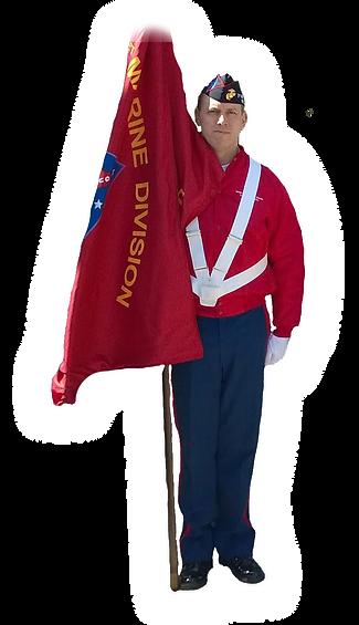 FMDA marine holding FMDA flag.png