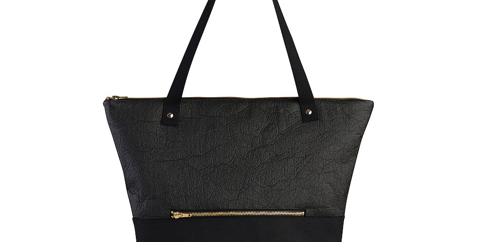 "Shopper ""love & soul"" sustainable black"