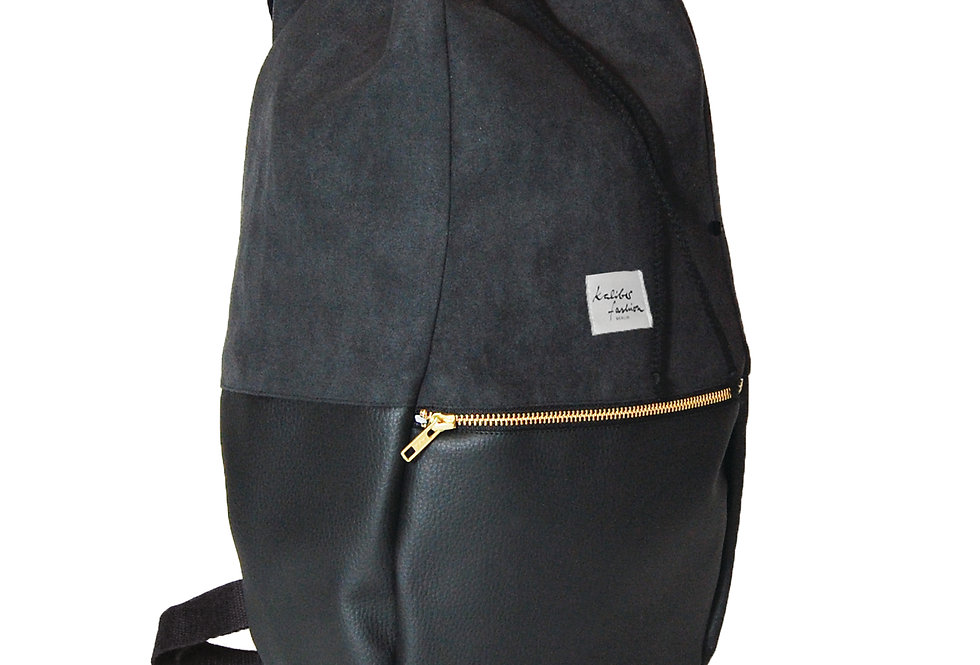 "backpack ""love & soul"" / black"