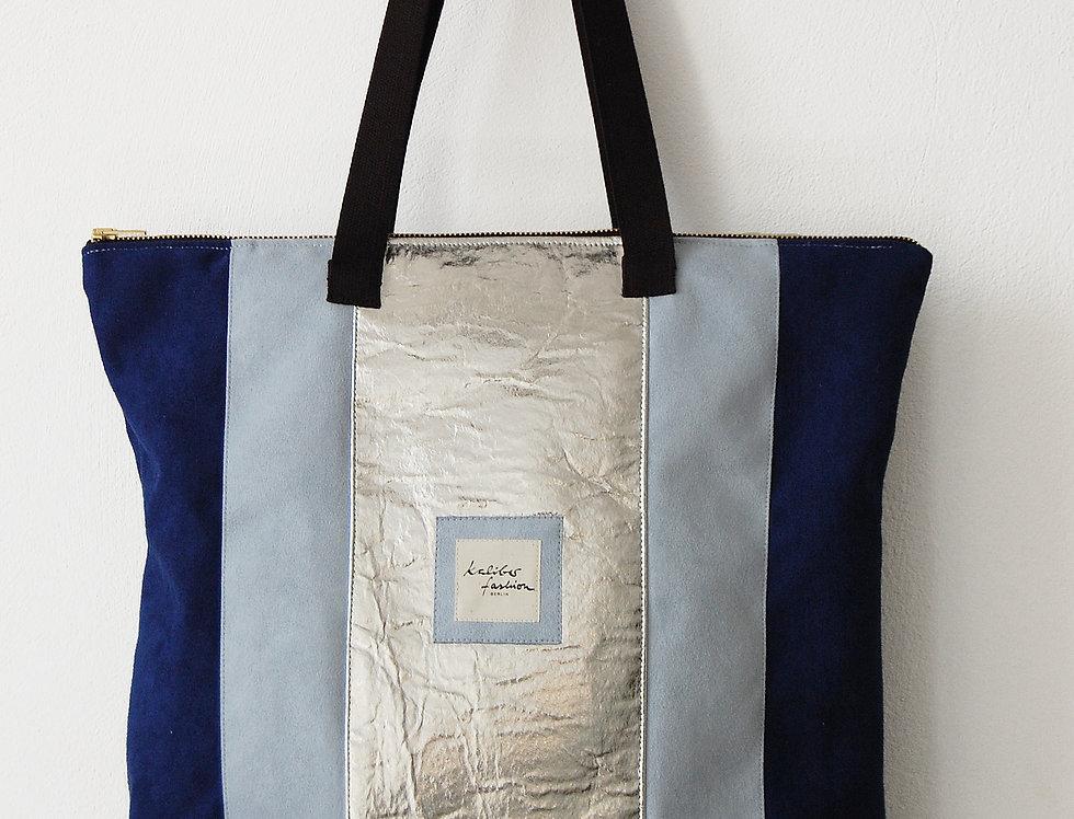 """Freizeit Tasche """"Trias"""" in Silberblau"""