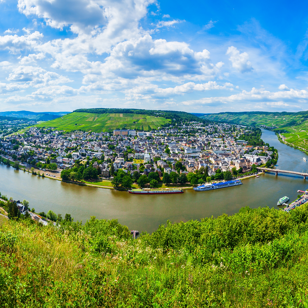 Bernkastel - town along the Moselle river