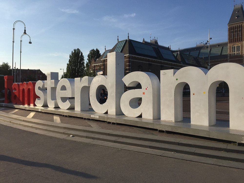 The Iamsterdam sign outside the Rijksmuseum