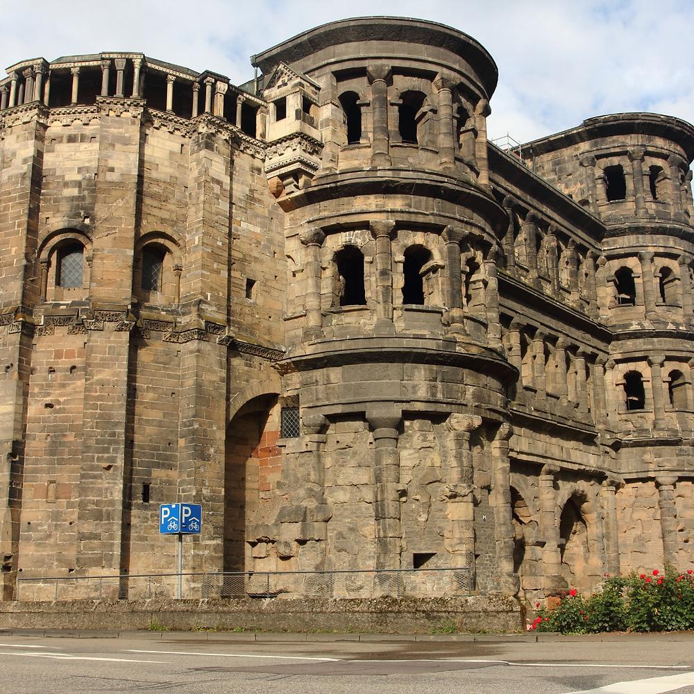 Porta Nigra - Ancient Roman ruin in the city of Trier, Germany