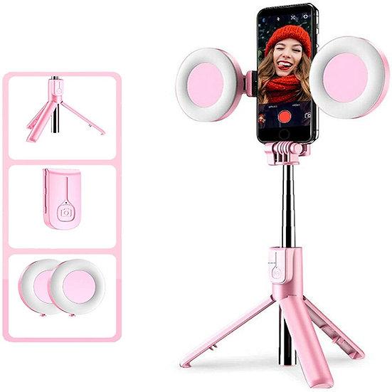 Selfie Stick mit LED Ring Licht