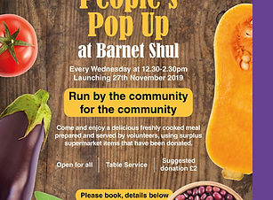 People's Pop Up poster - Barnet Shul ver