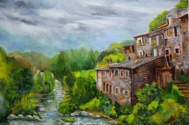 Casas mirando al rio