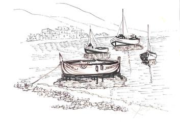 Barcas varadas