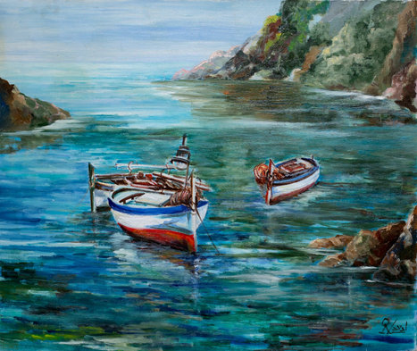 Barcas en la cala