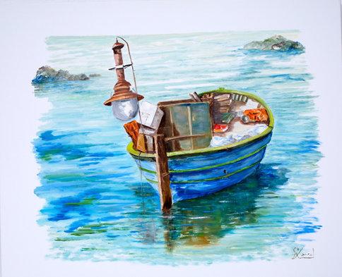 Barca turquesa
