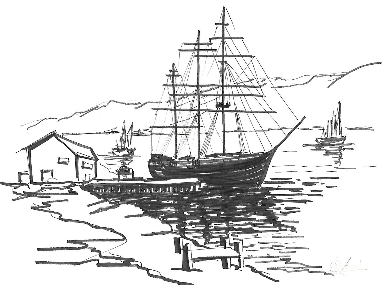 En puerto