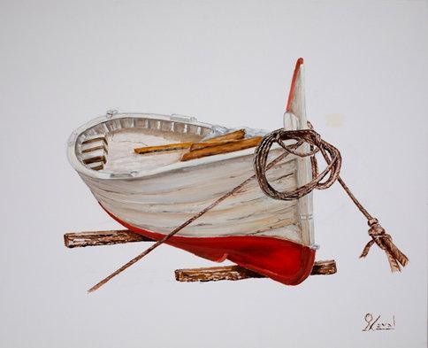 Barca en suspensión