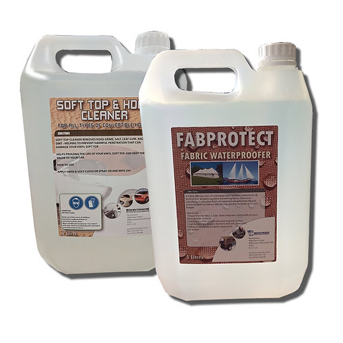 Soft Top Fabric Hood Canvas Convertible Cleaner and Waterproofer - 5 Litre Pack