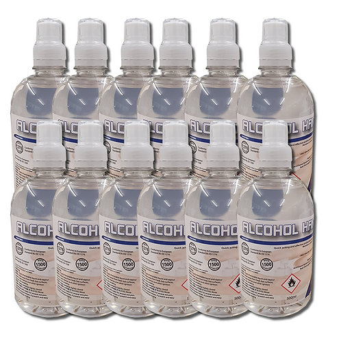 Alcohol Hand Gel 70% With Sports Top - 12 x 500 ML