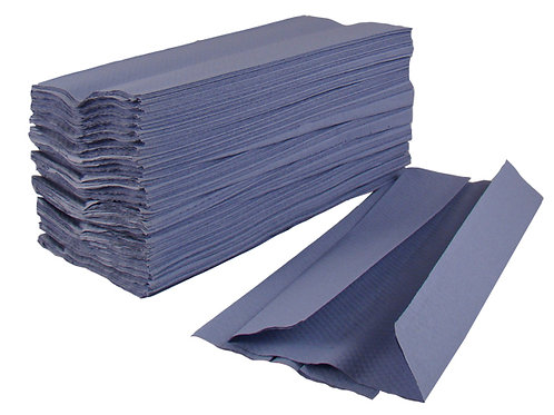 Paper Hand Towels - C Fold - 1 Ply - Blue - (3000 sheets)