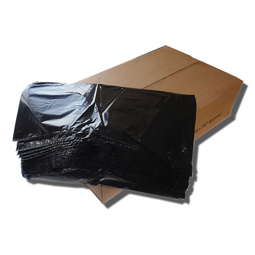 Black Bin Bags - 200 Pack - Various Gauges