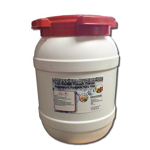 Potassium Hydroxide (KoH) Flakes 90% min - In Heavy Duty Keg