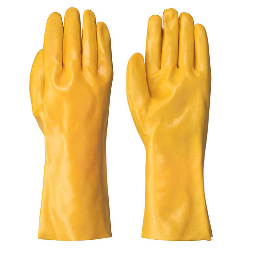 NITRLE YELLOW FULLY DIPPED GLOVE 14 IN GAUNTLET