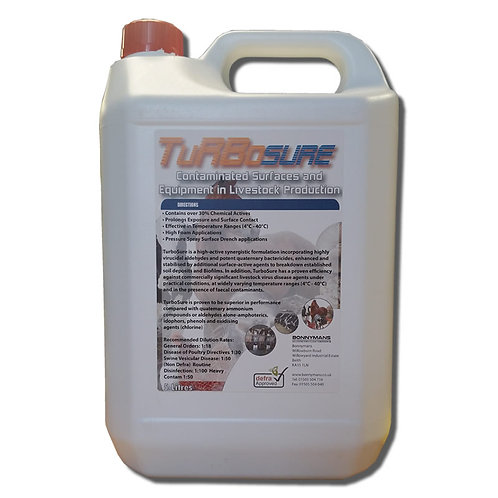 TurboSure - A  UK DEFRA Approved Detergent Disinfectant