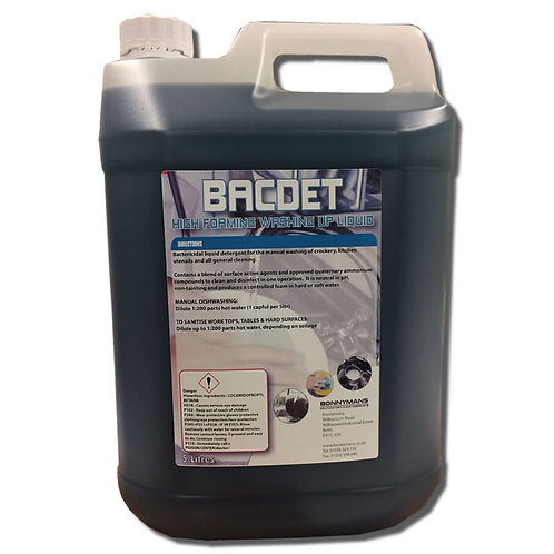 Bacdet - Bactericidal High Foaming Washing Up Liquid