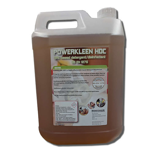 Powerkleen HDC - QAC based detergent/disinfectant BS EN 1276