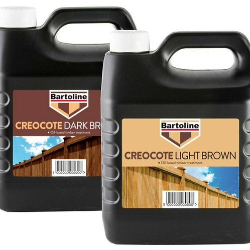 Bartoline Creocote Oil Based Wood Stain Light & Dark Brown 4L Fence & Sheds