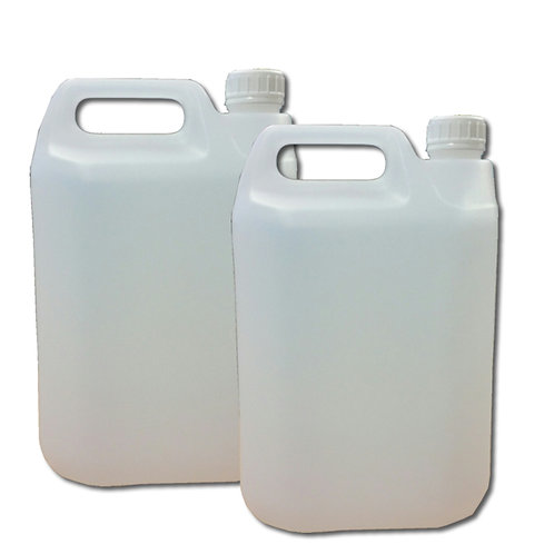 5 L Plastic White Jerry can UN Fluorinated with 42mm Tamper Evident Neck