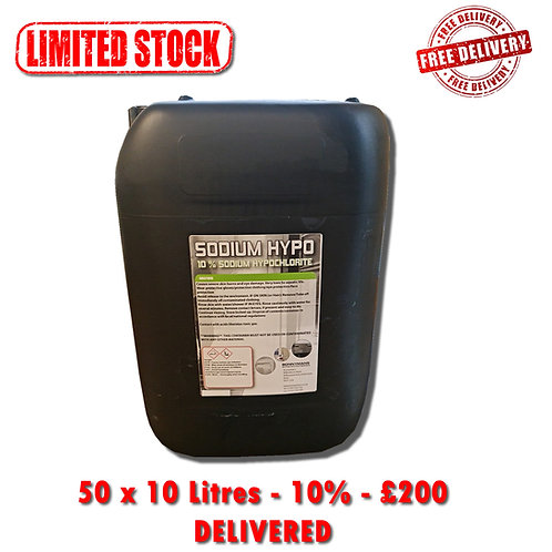 HYPO DEAL - 50 x 10 Litres - 10% - FREE DELIVERY