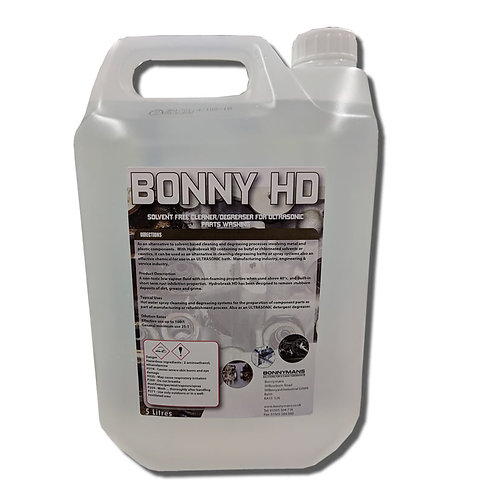 Bonny HD - Solvent Free | Degreaser For Ultrasonic Parts Washing