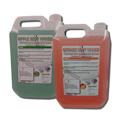 Soft Hands - Bactericidal Hand Soap - Apple Or Orange