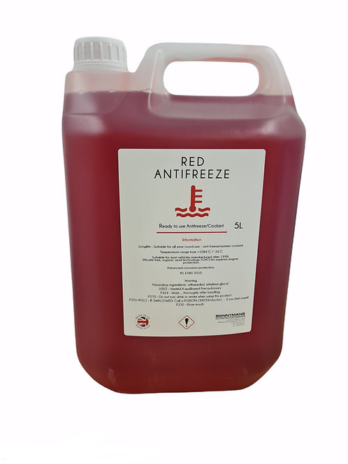 Long Life Antifreeze Red - Ready To Use