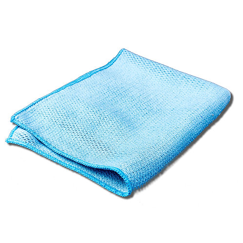 Blue Diamond Weave Microfibre Glass Detailing Cleaning Lintfree Towels