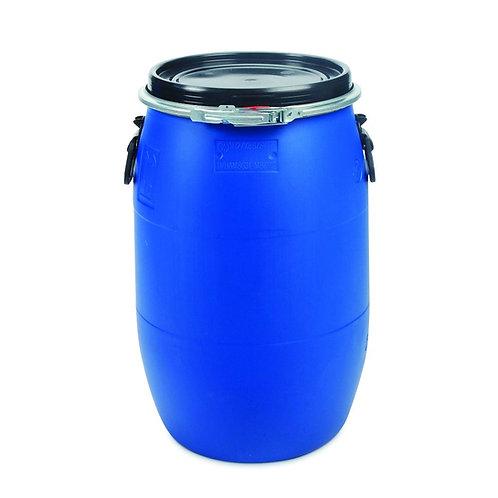 60L Litre Open Top Plastic Storage Drum Barrel Keg With Lid