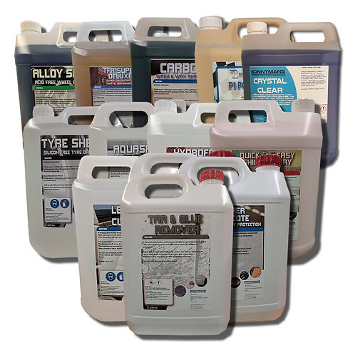 Car Valeting and Car Wash Pack - 1 Years Supply