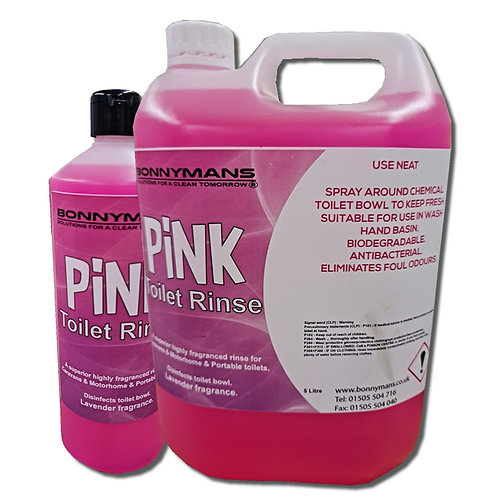 Caravan Campervan Chemical Toilet Pink Rinse