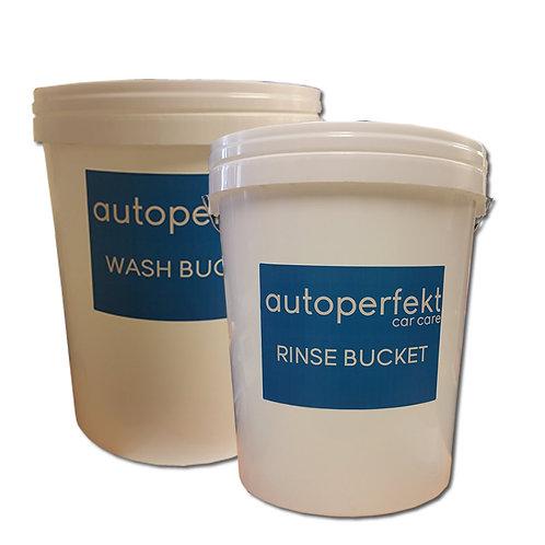 25 Litre Wash & Rinse Buckets x 2